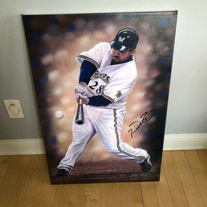 Prince Fielder Autographed Andrew Goralski Canvas
